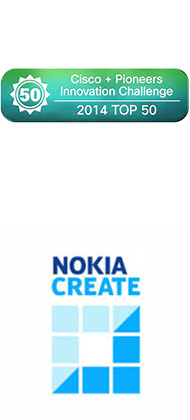 Cisco and Pioneers Innovations Challenge 2014 Top 50 and Nokia Create Contest